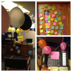 My office on my birthday!